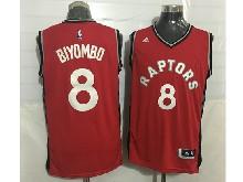 Mens Nba Toronto Raptors #8 Bismack Biyombo Red Jersey