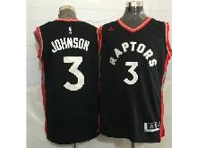 Mens Nba Toronto Raptors #3 James Johnson Black&red Jersey