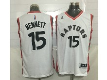 Mens Nba Toronto Raptors #15 Bennett White Jersey