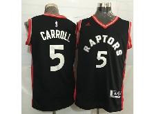 Mens Nba Toronto Raptors #5 Demarre Carroll Black&red Jersey