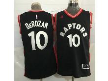 Mens Nba Toronto Raptors #10 Demar Derozan Black&red Jersey