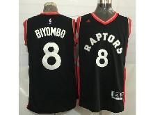 Mens Nba Toronto Raptors #8 Bismack Biyombo Black&red Jersey