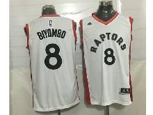 Mens Nba Toronto Raptors #8 Bismack Biyombo White Jersey