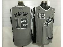 Mens Nba San Antonio Spurs #12 Aldridge Gray Revolution 30 Jersey (p)