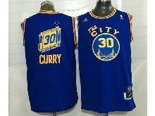 Mens Adidas Golden State Warriors #30 Stephen Curry Blue Hardwood Classics Swingman Jersey