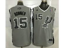 Mens Nba San Antonio Spurs #15 Matt Bonner Gray Jersey