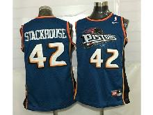Mens Nba Detroit Pistons #42 Jerry Stackhouse Blue Mesh Jersey