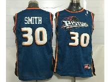 Mens Nba Detroit Pistons #30 Smith Blue Mesh Jersey
