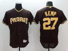 mens majestic san diego padres #27 matt kemp brown Flex Base jersey
