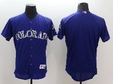 mens majestic colorado rockies blank purple Flex Base jersey