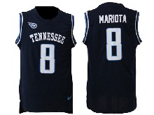 Mens Nfl Tennessee Titans #8 Marcus Mariota Blue Tank Top Jersey