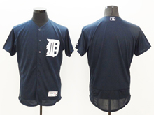mens majestic detroit tigers blank dark blue Flex Base jersey