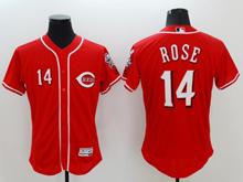mens majestic cincinnati reds #14 pete rose red Flex Base jersey