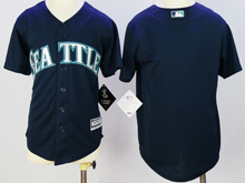 Youth Majestic Seattle Mariners Blank Dark Blue Jersey