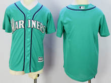 Youth Mlb Seattle Mariners Blank New Fans Version Green Jersey