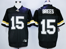 Mens Ncaa Nfl Purdue Boilermakers #15 Drew Brees Black Jersey