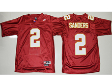 Mens Ncaa Nfl   Florida State Seminoles #2 Deion Sanders 2017 Red (fsu) Jersey