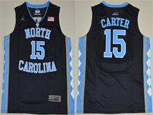 Mens Ncaa Nba North Carolina Tar Heels #15 Vince Carter Black Jersey