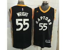 Mens Nba Toronto Raptors #55 Delon Wright Black&gold Jersey