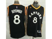 Mens Nba Toronto Raptors #8 Bismack Biyombo Black&gold Jersey