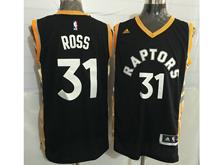 Mens Nba Toronto Raptors #31 Terrence Ross Black&gold Jersey