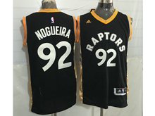 Mens Nba Toronto Raptors #92 Lucas Nogueira Black&gold Jersey