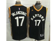 Mens Nba Toronto Raptors #17 Jonas Valanciunas Black&gold Jersey