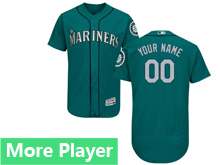 Mens Majestic Seattle Mariners Green Flex Base Jersey