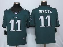 Mens Nfl Philadelphia Eagles #11 Carson Wentz Green Limited Jerseys