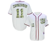 Mens Mlb Washington Nationals #11 Ryan Zimmerman White Camo Usmc Jersey