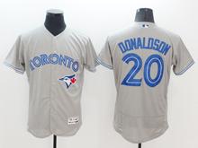 mens majestic toronto blue jays #20 josh donaldson gray Flex Base jersey