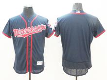 mens majestic minnesota twins blank dark blue Flex Base (minnesota) jersey