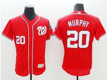 mens majestic washington nationals #20 daniel murphy red Flex Base jersey