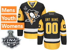 Mens Reebok Pittsburgh Penguins Black 2016 Stanley Cup Final Premier Jersey