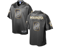 Mens Nfl Tennessee Titans #8 Marcus Mariota Pro Line Black Gold Collection Jersey