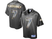 Mens Nfl San Francisco 49ers #7 Colin Kaepernick Pro Line Black Gold Collection Jersey