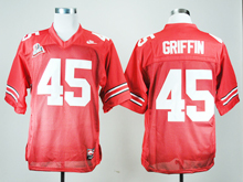 Mens Ncaa Nfl Ohio State Buckeyes #45 Archie Griffin Red Throwback Jersey