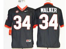 Mens Ncaa Nfl Georgia Bulldogs #34 Herchel Walker Black Jersey