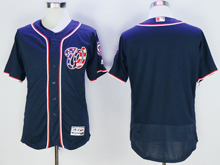 mens majestic washington nationals blank navy blue Flex Base jersey