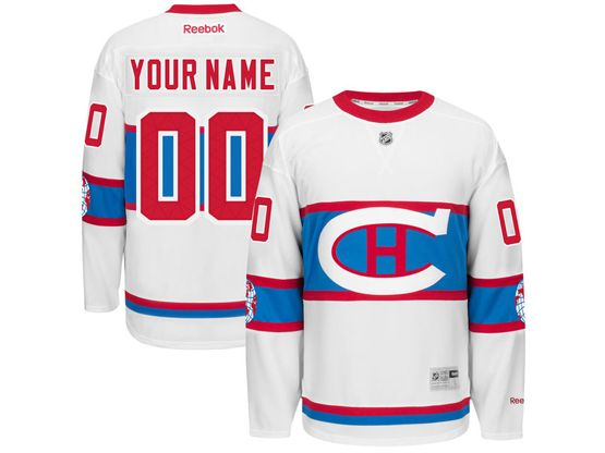 Mens Reebok Montreal Canadiens White 2016 Winter Classic Premier Jersey