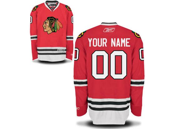 Mens Reebok Chicago Blackhawks Red Home Premier Jersey
