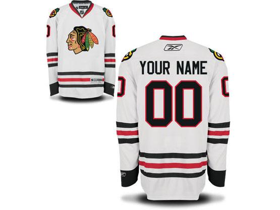 Mens Reebok Chicago Blackhawks White Away Premier Jersey