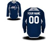 Reebok Washington Capitals (custom Made) Navy Blue Practice Team Jersey