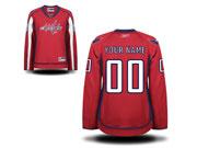 Women Reebok Washington Capitals (custom Made) Red Jersey