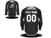 Reebok Tampa Bay Lightning (custom Made) Black (2015 New) Jersey