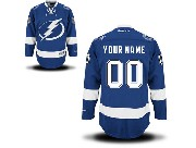 Women  Reebok Tampa Bay Lightning (custom Made) Royal Blue Premier Home Jersey