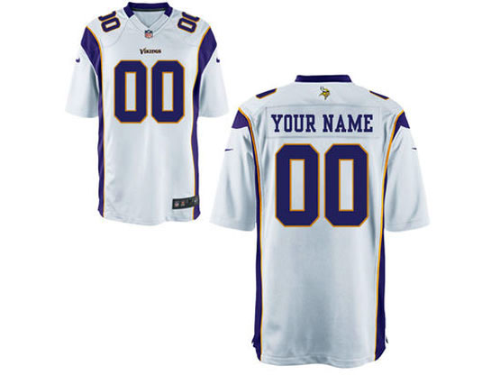 Nfl Minnesota Vikings (custom Made) White Game Jersey