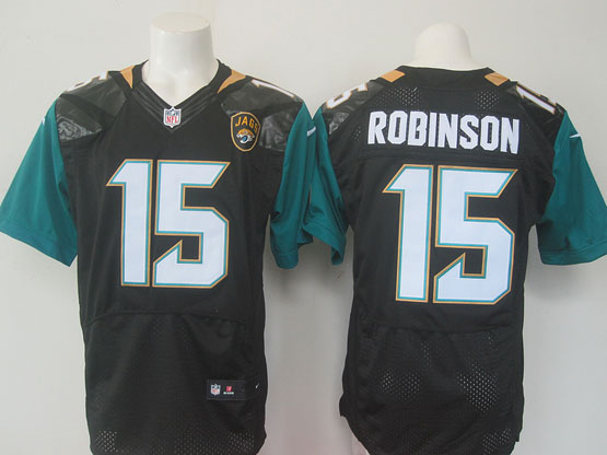Mens   Jacksonville Jaguars #15 Allen Robinson Black Alternate Elite Jersey