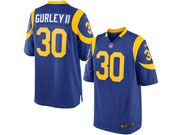 Mens   Los Angeles Rams #30 Todd Gurley Royal Blue Elite Jersey