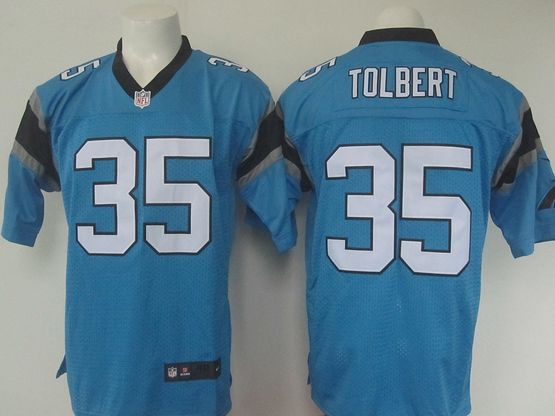 Mens Nike Nfl Carolina Panthers #35 Mike Tolbert Blue Elite Jersey